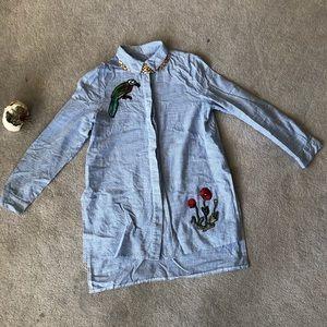 Button Up Appliqué Shirt